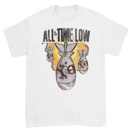 All Time Low Da bomb tshirt White