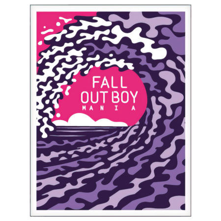 Fall Out Boy Mania Screen Printed Poster