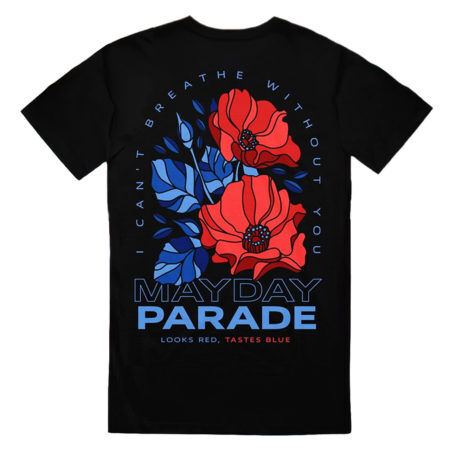 MAYDAY PARADE Looks Red Taste Blue T-shirt Back
