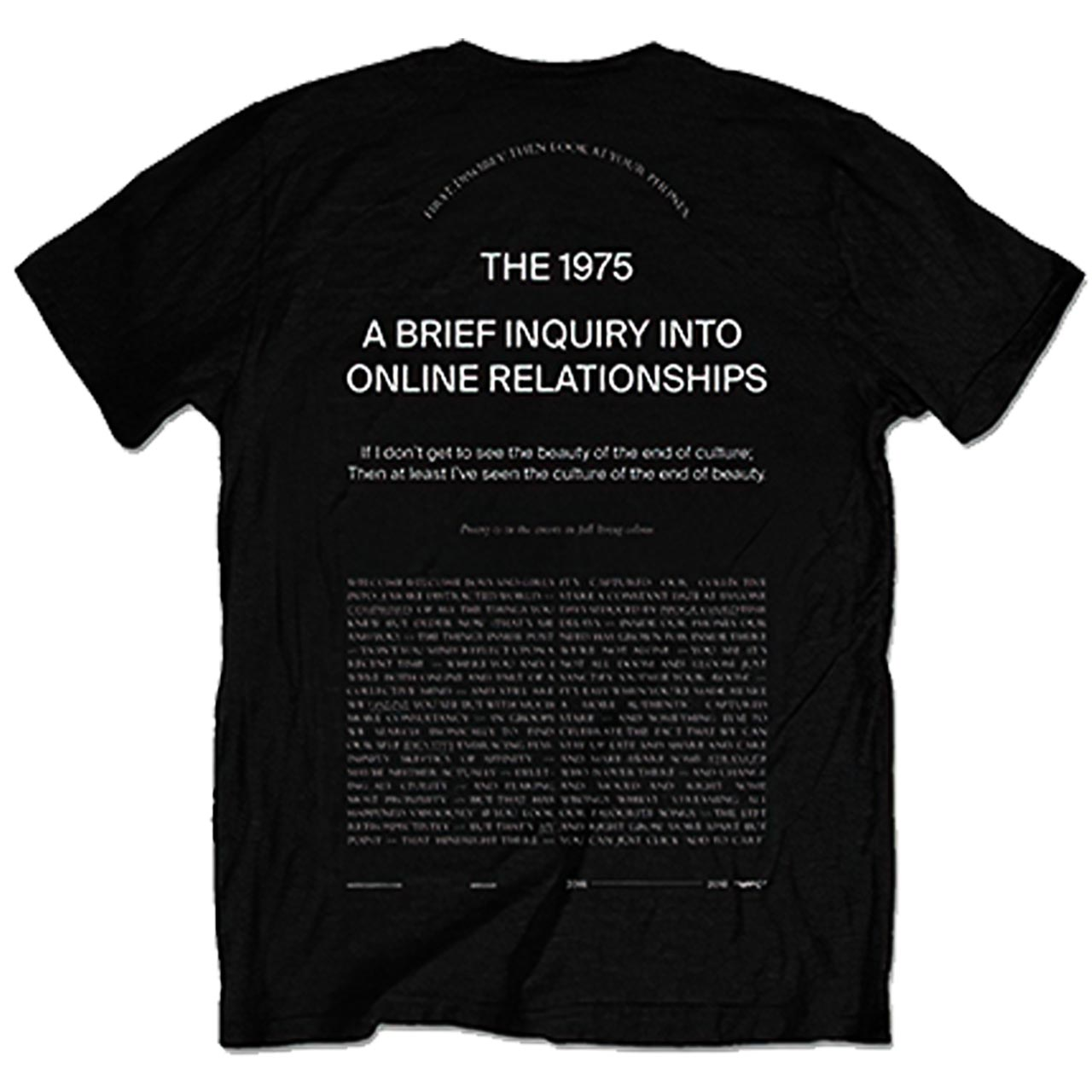 The 1975 Welcome Ver1 Tshirt Back