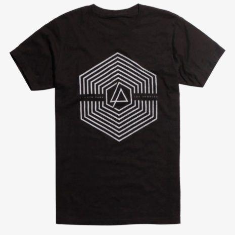 LINKIN PARK Los Angeles Geometric Shapes Logo Tshirt