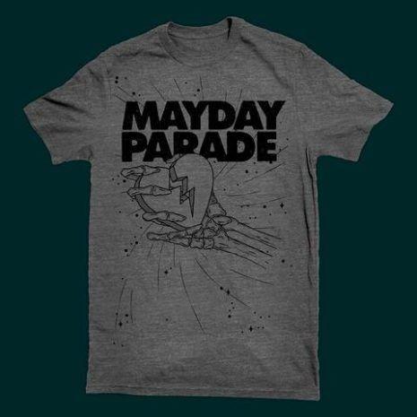 MAYDAY PARADE Crushed Heart Tshirt
