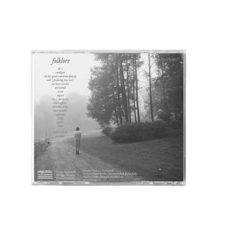 Taylor Swift Folklore Betty's Garden Back CD