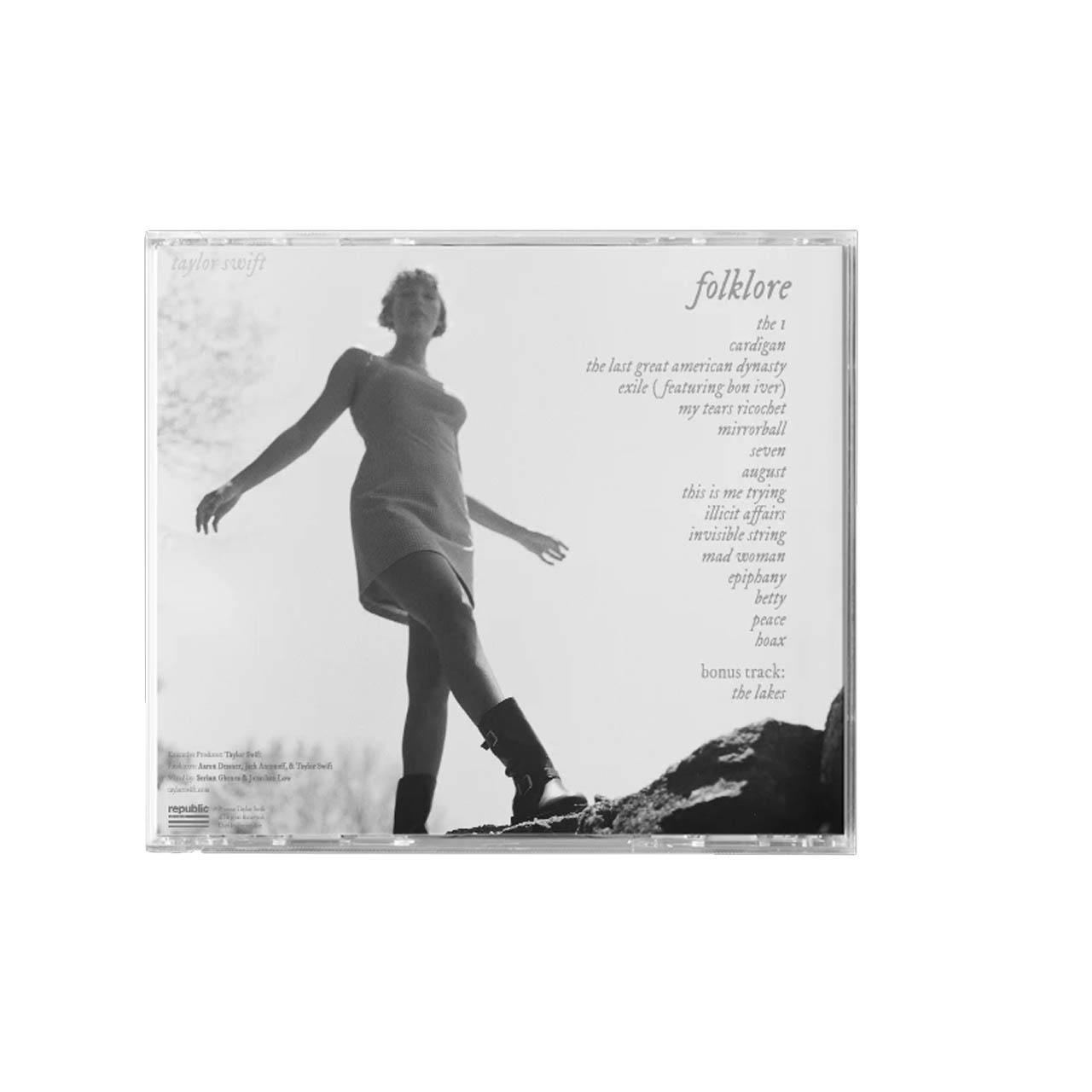 Taylor Swift Folklore Running Like Water Back CD