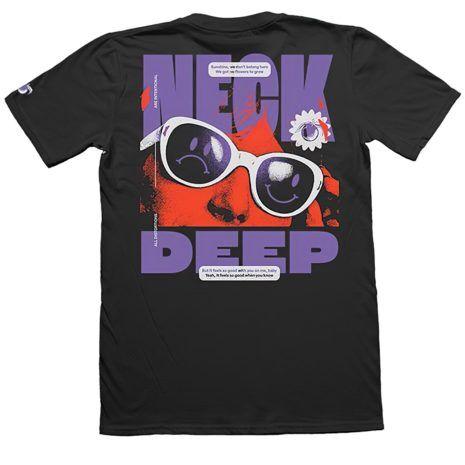 NECK DEEP Sunglasses Tshirt Back