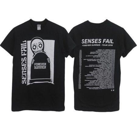 SENSES FAIL Forever Summer Black Tshirt