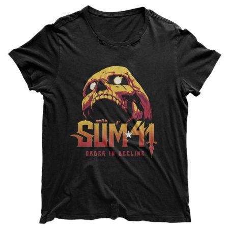 Sum41 Skull Black Distressed Tshirt