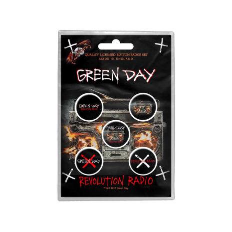 GREENDAY Revolution Radio Badge Pin Set