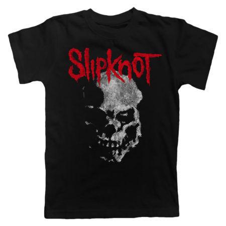 SLIPKNOT Gray Chapter Skull Tshirt Front