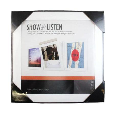 SHOW AND LISTEN White Frame